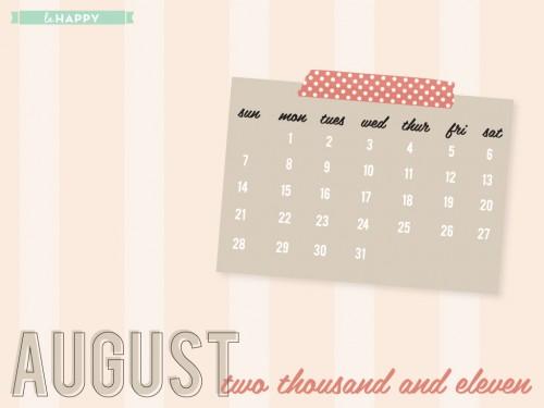 LaHappy August 2011 Free Desktop Wallpaper