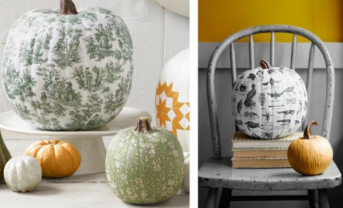 I Recently Ran Across This Pumpkin Idea In Country Living Covering A With Wallpaper Paper Or Fabric Love Especially Because The Toile