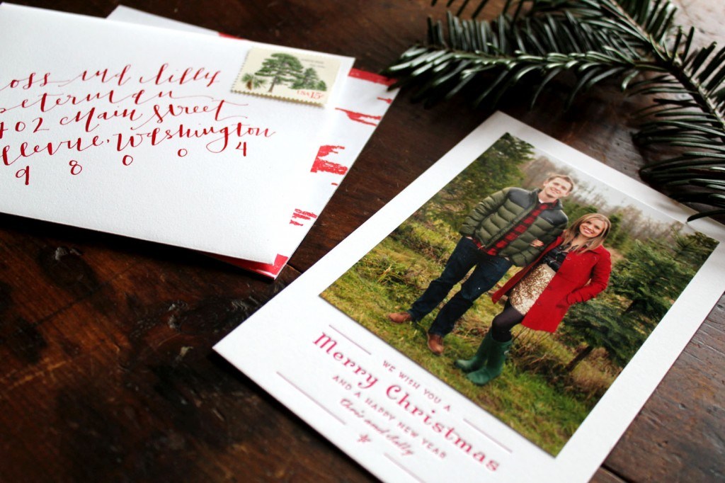 christmas card Archives - la Happy Calligraphy & Custom Paper Goods
